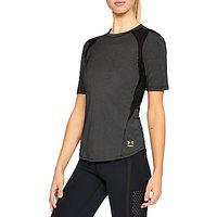 Under Armour Lightweight Short Sleeve Top, Black/Metallic