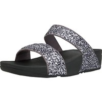 FitFlop Glitterball Slider Sandals, Pewter