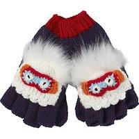Fat Face Children's Yeti Gloves, Ecru/Navy