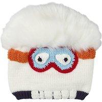Fat Face Children's Yeti Beanie Hat, Ecru