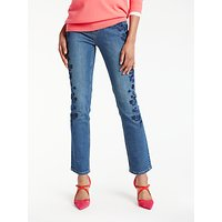 Boden Cavendish Embroidered Girlfriend Jeans, Blue