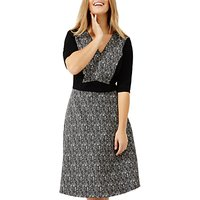 Studio 8 Albany Jacquard Dress, Black/Multi