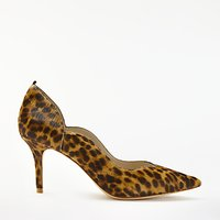 Boden Madison Stiletto Heeled Court Shoes, Leopard