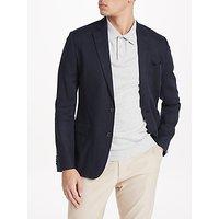 J.Lindeberg Hopper Soft Technical Linen Jacket, Navy