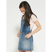 John Lewis Girls' Denim Pinafore Dress, Blue