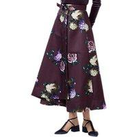 Finery Moore Heritage Bloom Full Skirt, Purple/Multi