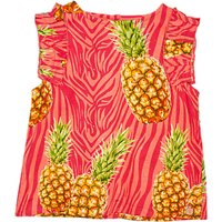 Angel & Rocket Girls' Pineapple Woven Top, Pink