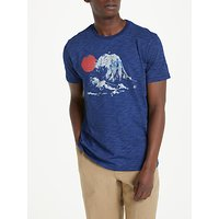 JOHN LEWIS & Co. Wave Print T-Shirt, New Indigo