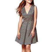 Yumi Sleeveless Geometric Dress, Black