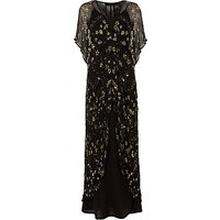 Phase Eight Collection 8 Carlotta Embroidered Dress, Black/Gold