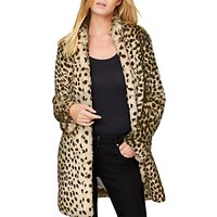 Damsel in a dress Carter Leopard Faux Fur Coat, Leopard