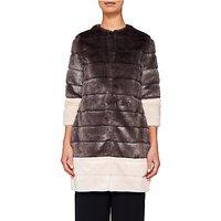 Ted Baker Argenta Faux Fur Coat, Light Grey