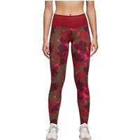 Adidas High Definition Printed Training Tights, Noble Maroon/print