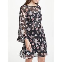 Marella Floral Print Dress, Black/Multi