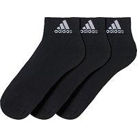 Adidas Performance Thin Ankle Socks, Pack Of 3, Black
