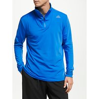 Adidas 1/2 Zip Running Top, Bright Blue