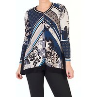 Chesca Floral Print Jersey Top, Riviera