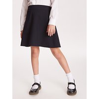 John Lewis and Partners Girls Adjustable Waist A-Line School Skirt