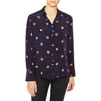PS Paul Smith Floral Print Silk Shirt, Navy/Multi