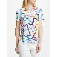 PS Paul Smith Ribbon Print Silk Top, White