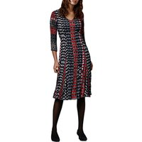 East Inez Print Pleat Dress, Indigo