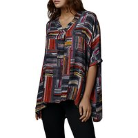 East Marcelle Check Oversized Blouse, Charcoal