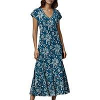 East Anokhi Garden Dress, Indigo