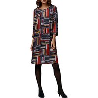 East Marcelle Check Shift Dress, Charcoal