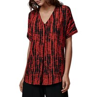 East Graphic Stripe Blouse, Rust