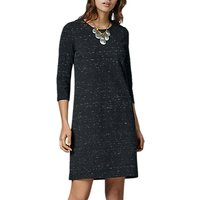 East Speckled Jersey Dress, Charcoal