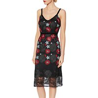 Gina Bacconi Alice Floral Embroidered Dress, Black