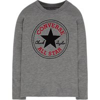 Converse Boys' Long Sleeved Chuck Sweatshirt, Grey Heather