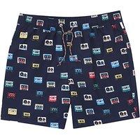 Original Penguin Cassette Print Swim Shorts, Navy