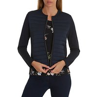 Betty Barclay Quilted Cardigan, Dark Sky
