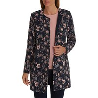 Betty Barclay Floral Jacket, Dark Blue/Rose