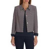 Betty Barclay Patterned Jacket, Dark Blue/Cream
