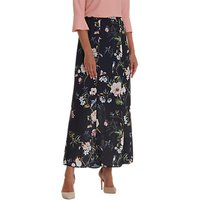 Betty Barclay Floral Print Maxi Skirt, Dark Blue/Rose