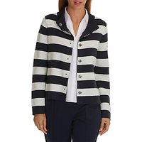 Betty Barclay Striped Cardigan, Dark Blue/Cream