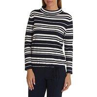 Betty Barclay Striped Knit Top, Dark Blue/Cream