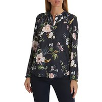 Betty Barclay Floral Print Blouse, Dark Blue/rose