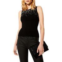Karen Millen Scattered Knit Top, Black/Multi