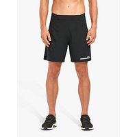 2xu Compression Double Layer 7 Inch Training Shorts, Black/silver