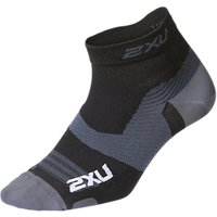2xu Vectr 1/4 Compression Socks, Black/titanium