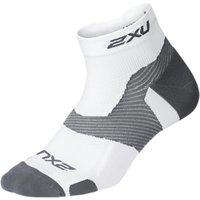 2xu Vectr 1/4 Compression Socks, White/grey