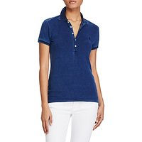 Polo Ralph Lauren Julie Skinny Fit Short Sleeve Polo Shirt, Blue