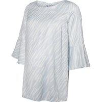 Mamalicious Kamille Batwing Sleeve Maternity Top, Blue/white