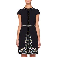 Ted Baker Hampton Court Shift Dress, Black/Multi