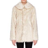 Ted Baker Olleen Winter Faux Fur Coat, Ivory