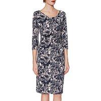 Gina Bacconi Milena Floral Dress, Navy/Pink