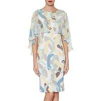 Gina Bacconi Maisie Dress and Cape, Multi